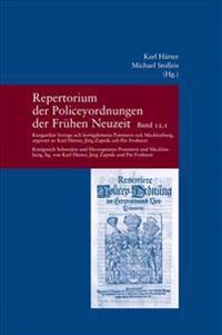 Repertorium Der Policeyordnungen Der Fruhen Neuzeit Band 12: Kungariket Sverige Och Hertigdomena Pommern Och Mecklenburg/Konigreich Schweden Und Herzo