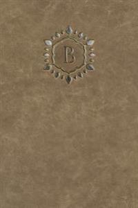 Monogram B Meeting Notebook