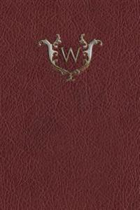 "Monogram ""W"" Any Day Planner Notebook"