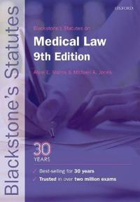 Blackstone's Statutes on Medical Law