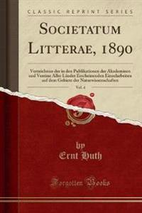 Societatum Litterae, 1890, Vol. 4