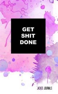 Jacked Journals: Bullet Grid Journal - Original, Get Shit Done - 185 Dot Grid Pages, 5 X 8, Professionally Designed (Purple) (Watercolo