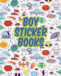 Boy Sticker Books: Blank Sticker Book, 8 X 10, 64 Pages