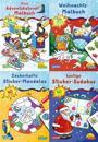 Pixi kreativ Serie Nr. 24: Weihnachtsspaß mit Adventskalender und Stickern (4 x 7 Exemplare)