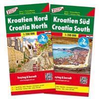 Kroatien Nord und Süd, Autokarten Set 1:200.000