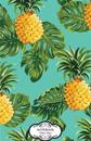 Notebook: Tropical Pineapple: Journal Dot-Grid, Graph, Lined, Blank No Lined, Small Pocket Notebook Journal Diary, 120 Pages, 5.