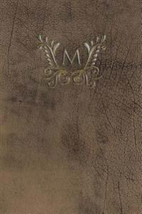 "Monogram ""M"" Any Day Planner Journal"
