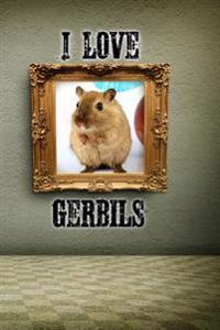 I Love Gerbils: A 6 X 9 Lined Journal Notebook