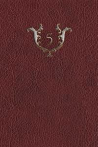 "Monogram ""5"" Any Day Planner Journal"