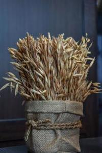 A Sheaf of Golden Wheat in a Rustic Burlap Bag Harvest Journal: 150 Page Lined Notebook/Diary