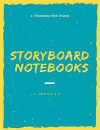 Storyboard 8.5x 11 120 Page,4 Frames Per Page: Storyboarding, Storyboarding Notebook, Storyboard Journal, Film Notebook, Storyboard Paper