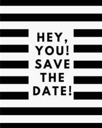 Hey You Save the Date: 110 Page Daily Planner Lined Journal for Your Thoughts, Ideas, and Inspiration (8x10)