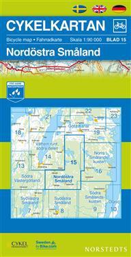 Cykelkartan Blad 15 Nordöstra Småland : 1:90000