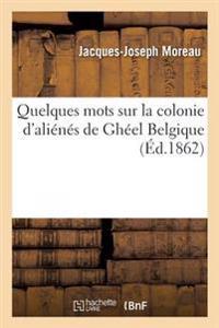 Quelques Mots Sur La Colonie D'Alienes de Gheel Belgique