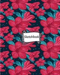 Sketchbook: Floral Pattern: 100+ Pages of 8 X 10 Blank Paper for Drawing, Doodling or Sketching (Sketchbooks)