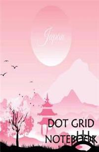 Dot Grid Notebook: Pink Japanese: 120 Dot Grid Pages, (5.5 X 8.5) Inches