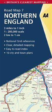 Aa Northern England Road Map