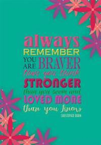 Always Remember (You Are) - A Journal (College Rule-Teal)