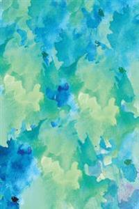 Journal: Blue Green Abstract 6x9 - Dot Journal - Journal with Dotted Pages