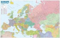 Eurooppa + Venäjä postinumeroin seinäkartta 1:6 000 000