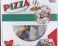 Pizza - box (bok & pizzaskärare)