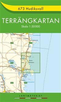 673 Hudiksvall Terrängkartan : 1:50000