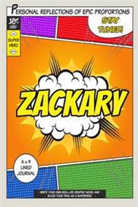 Superhero Zackary: A 6 X 9 Lined Journal