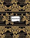 Sketchbook: Versace Background: 100+ Pages of 8 X 10 Blank Paper for Drawing, Doodling or Sketching (Sketchbooks)