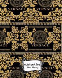 Notebook: Notebook Line Versace Background, Notebook Journal Diary, 120 Lined Pages, 8 X 10