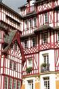 Red and White Timbered Houses in Normandy France Travel Journal: 150 Page Lined Notebook/Diary