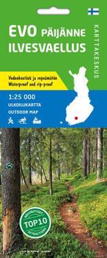 Evo-Päijänne-Ilvesvaellus ulkoilukartta 1:25 000