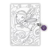 Fairy Color-In Locked Diary