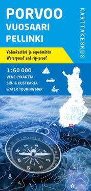 Porvoo-Vuosaari-Pellinki veneilykartta 1:60 000