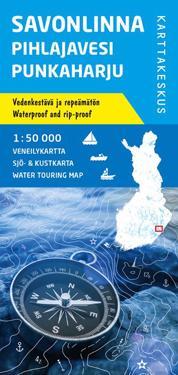 Savonlinna-Pihlajavesi-Punkaharju veneilykartta 1:50 000