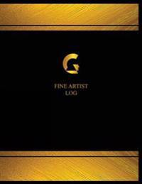 Fine Artist Log (Logbook, Journal - 125 Pages, 8.5 X 11 Inches): Fine Artist Logbook (Black Cover, X-Large)