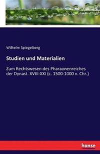 Studien Und Materialien