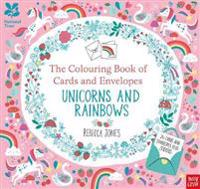 National Trust: The Colouring Book of Cards and Envelopes - Unicorns and Rainbows