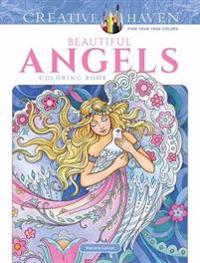Creative Haven Beautiful Angels Coloring Book