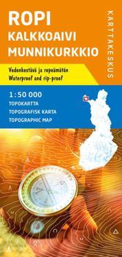 Ropi-Kalkkoaivi-Munnikurkkio topokartta 1:50 000