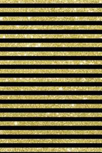Lizzie Timewarp Notebook (Gold and Black Striped)