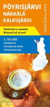 Pöyrisjärvi-Näkkälä-Kalkujärvi topokartta 1:50 000