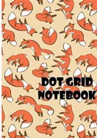 Dot Grid Notebook: Cutie Foxs: 110 Dot Grid Pages, 7 X 10