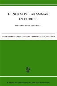 Generative Grammar in Europe