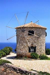 Windmill by the Sea Zakynthos Greece Journal: 150 Page Lined Notebook/Diary