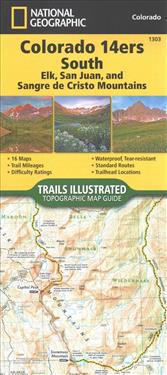 Colorado 14ers South [san Juan, Elk, And Sangre De Cristo Mountains] Adventure Map