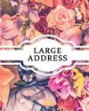 Large Address: Vintage Design (with Birthday Notes) - Size 8x10 Inches - Name, Address, Mobile, Work, Fax, Email, Emergency Contacts