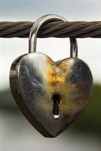 Silver Metallic Heart-Shaped Padlock of Love on a Bridge Journal: 150 Page Lined Notebook/Diary