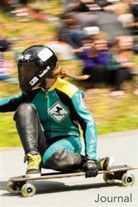 Journal: Female Longboard Racer: Longboard Racer Female Blank Lined Journal