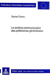 Le Schema Communautaire Des Preferences Generalisees