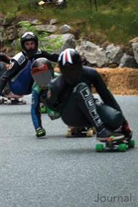 Journal: Five Male Longboard Racers: Five Longboard Racing Men Blank Lined Journal